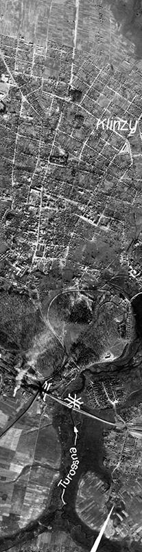 26.9.1943. Аэрофотосъемка Люфтваффе Высота съёмки 7800 м. Приблизительный масштаб 1:39000