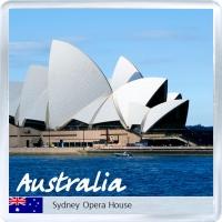 Сувенирный магнит на холодильник: Австралия. Сиднейский Оперный Театр