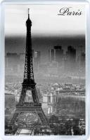 Магнит на холодильник: Париж. Франция. Эйфелева Башня (черно-белая)