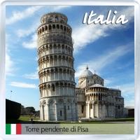 Сувенирный магнит на холодильник: Италия. Пизанская башня