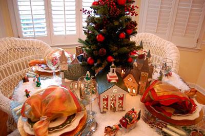 Вариант украшения новогоднего стола