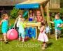 Детские площадки: батуты, домики, горки, - сложности выбора спортивного комплекса для ребенка