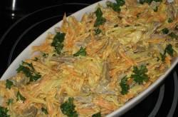 Салат из языка и морковки