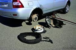 Что делать, если лопнула шина?
