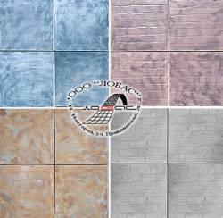 Тротуарная плитка и форма для ее изготовления