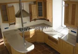 Кухонная столешница с варочной поверхностью