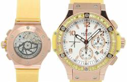 Модные женские часы швейцарской фирмы Hublot