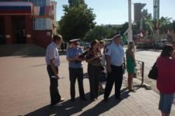 ГИБДД обследовало пешеходные переходы вблизи общеобразовательных учреждений.