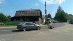 невнимательность водителя мопеда послужило причиной ДТП