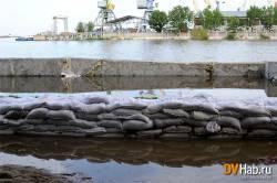 Паводок на Амуре 2013, уровень воды в Амуре у Хабаровска