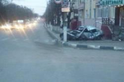 ДТП рано утром  на перекрестке ул. Октябрьская и ул. Пушкина
