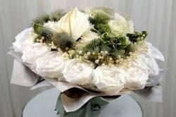 Новогоднее торжество с бесподобными букетами цветов Мосцветторга