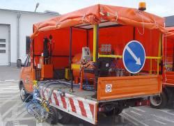 Машины для разметки дорог: назначение, разновидности, принцип работы